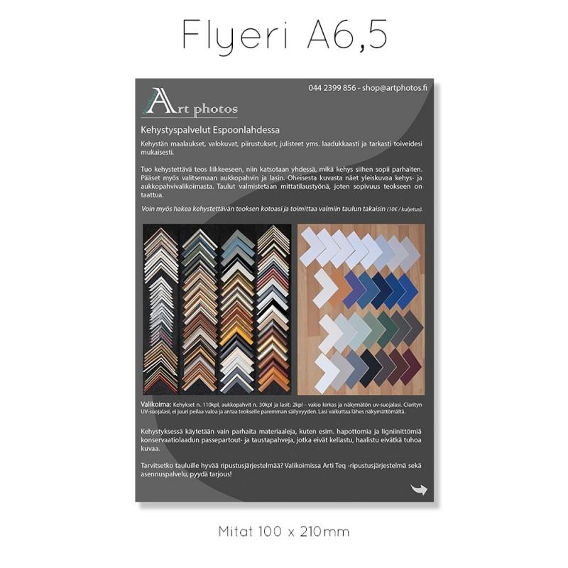 Flyeri A6.5 (1/3 A4) 1-puolinen